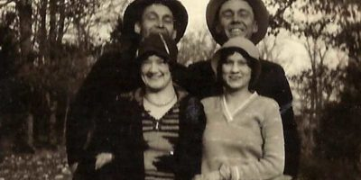Wilton Adams, Sibyl Parrish, Emmett and Garnett Adams