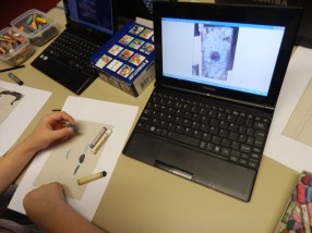 drawing the boat from the close-up photo