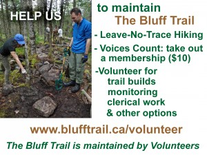 The Bluff Trail needs You!