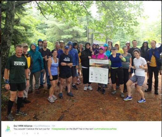 Participants in Bluff Trail run and hike Aug 12