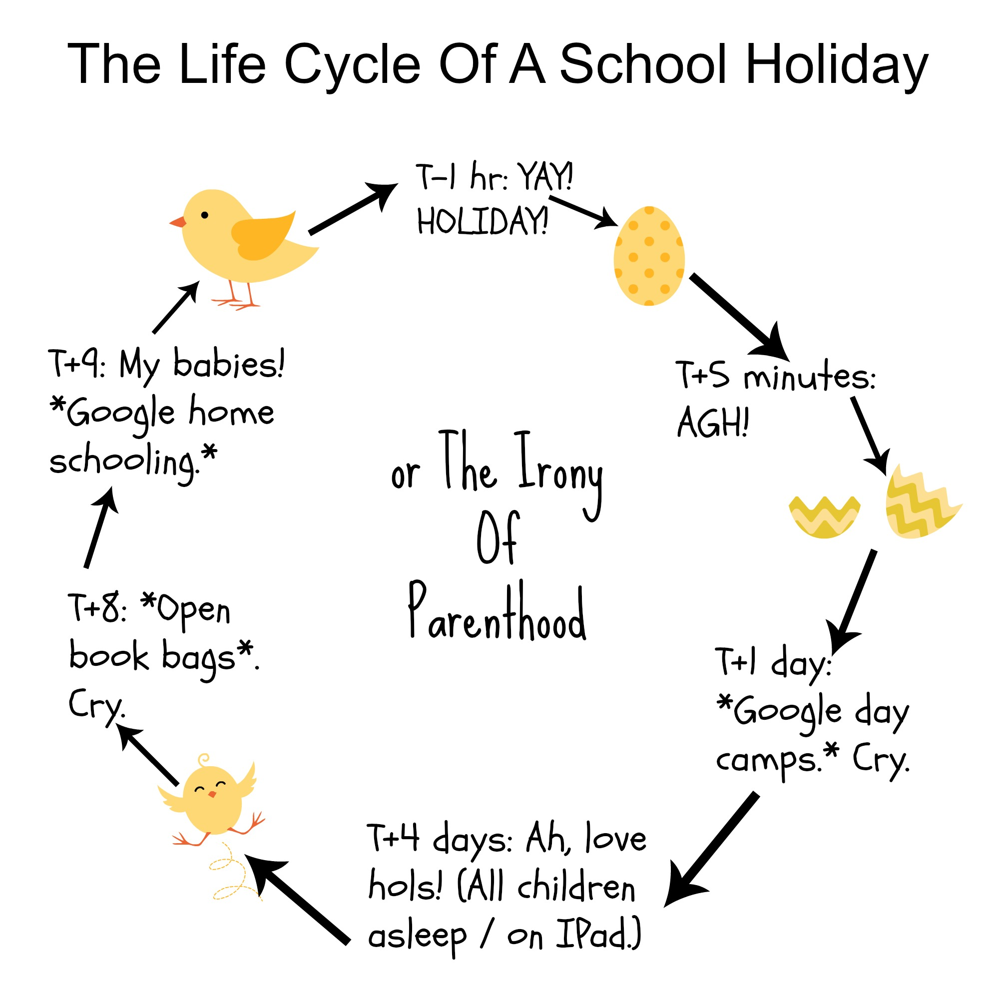 The Life Cycle Of A School Holiday