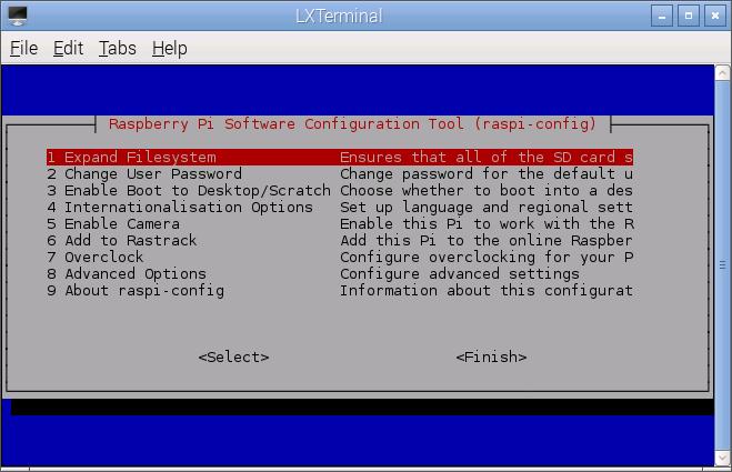 あー。黒い画面はここで使うね。本当にPi_Scratchしか使わない(時間やキーボードが若干おかしくて良い)のであれば必須ではありません。