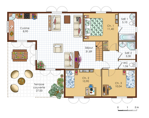 Villa Antillaise Dtail Du Plan De Villa Antillaise