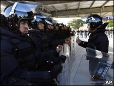 Polícia na conferência da ONU sobre mudanças climáticas
