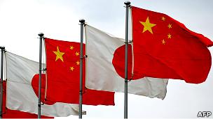中日国旗(资料图片)