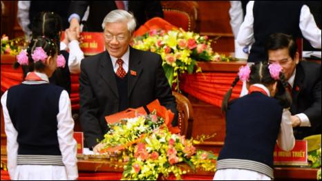 Ông Nguyễn Phú Trọng tại Đại hội XI