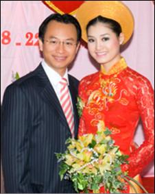 Ông Nguyễn Xuân Anh cùng vợ, cô Bùi Thị Diễm