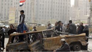 Lapangan Tahrir di pusat kota Kairo