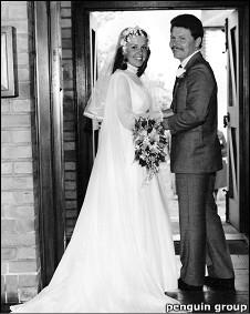 Jeff Pearce y su esposa Gina, recién casados