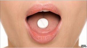 Tomando una pastilla