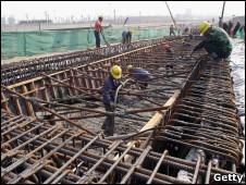 Construção de ferrovia em Jiangsu