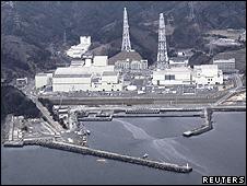 Imagem da usina de Onagawa (Reuters)