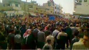 تظاهرة معارضة في درعا