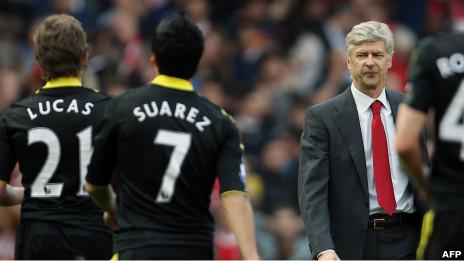 Wenger akitoka uwanjani baada ya kufungwa na Liverpool