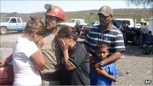 Keluarga penambang meksiko