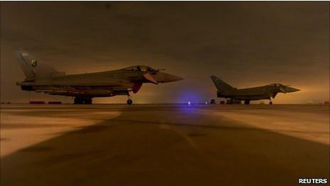 Pesawat Typhoon milik AU Inggris