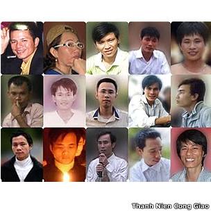 Một số người mà Tổ chức Theo dõi Nhân quyền đòi Việt Nam trả tự do trong thông cáo mới đây