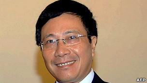 Bộ trưởng Phạm Bình Minh tại Hà Nội hồi cuối tháng Tám