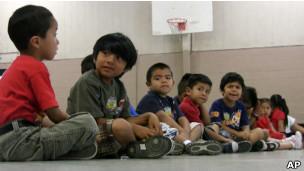 Niños en escuela de Alabama