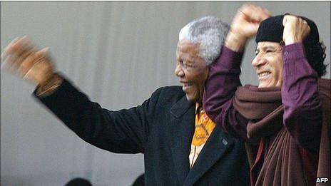 Mandela y Gadafi