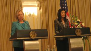 Thủ tướng Yingluck tiếp Ngoại trưởng Mỹ Clinton vào năm ngoái