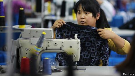 Công nhân may ở tỉnh Triết Giang