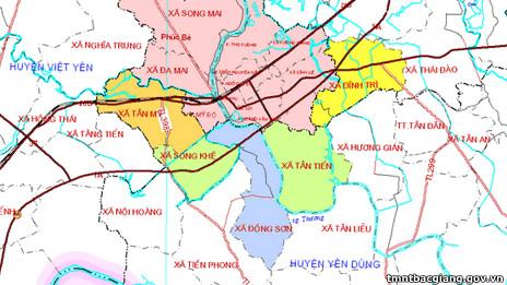 Bản đồ Bắc Giang