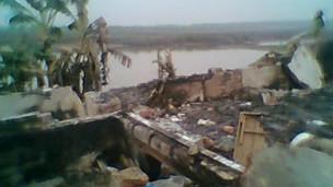 Nhà của gia đình ông Vươn sau khi bị phá