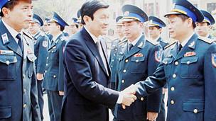 Chủ tịch nước Trương Tấn Sang gặp các lãnh đạo cảnh sát biển