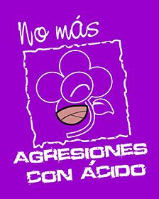 """Logo de """"No más agresiones con ácido"""""""