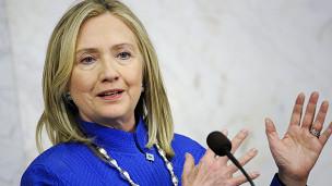 Ngoại trưởng Mỹ Hillary Clinton trong chuyến thăm Thụy Điển đầu tháng 6