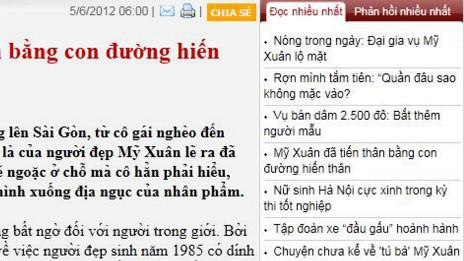 Bài được nhiều người đọc nhất trên trang tin VietnamNet