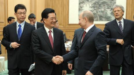 Lãnh đạo Nga - Trung trong buổi lễ ký thỏa thuận hợp tác