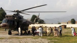 Helicóptero que trasladó a la menor