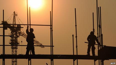 Construção na China (Foto: AFP)