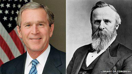 Джордж Буш и Ратерфорд Хейс
