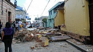 Imagen de archivo del terremoto en Guatemala el 7 de noviembre de 2012