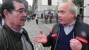 Discusión en el centro de Madrid