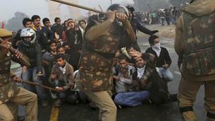 Protestas en Delhi