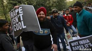 Protestas anti-violación en India