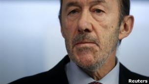 Líder de la oposición Alfredo Perez Rubalcaba