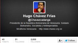 Último tuit de Chávez