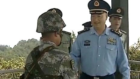 Tướng Hứa Kỳ Lượng thăm Lão Sơn