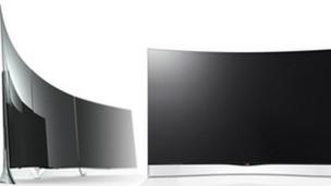 التلفزيون المنحني من شركة الي جي قريباً