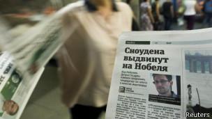 Snowden en los diarios rusos