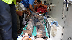 Herido en una ambulancia