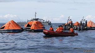 Operación de rescate en Filipinas
