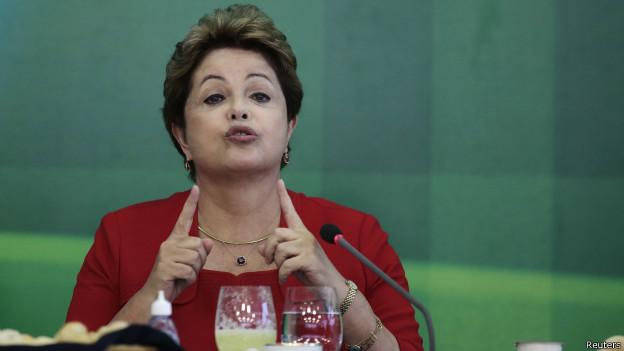 Dilma Rousseff, presidente do Brasil   Crédito: Reuters
