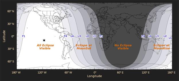 Mapa de visibilidad de la Nasa.