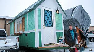 Propietaria de una casa diminuta en Wisconsin